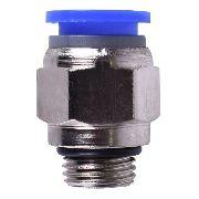 Kit Com 100 Conexões Pneumáticas Engate Rápido 1/4 Bsp X 8mm