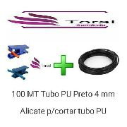 100 Mt Tubo Pu Preto 4mm + Alicate Para Cortar Tubo Pu