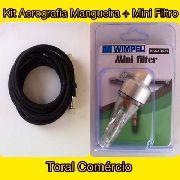 Kit Aerografia Mangueira + Mini Filtro Wimpel Para Aerografo