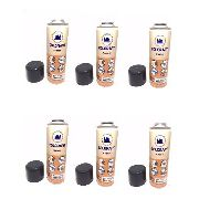 6 Spray Preto Brilhante Plasti-k Para Plástico Colorart