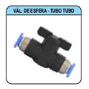 Válvula Pneumática De Esfera Tubo X Tubo 6 Mm