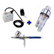 Aerógrafo Steula Bc61-0.3 + Compressor Comp-3 E Mini Filtro