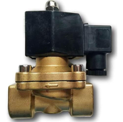 3 Válvula Solenóide 1 Polegada Nf 80° 2/2 Água/óleo/ar 24vdc