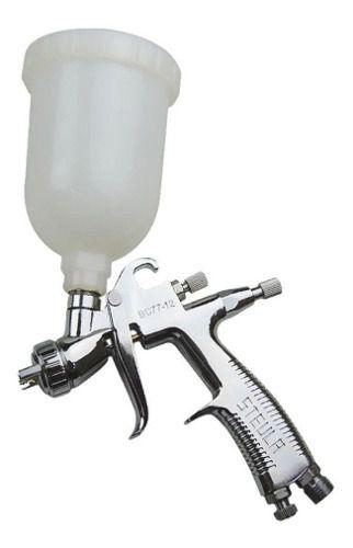 Mini Pistola De Pintura Gravidade Steula Bc77 Bico 0.8 250ml