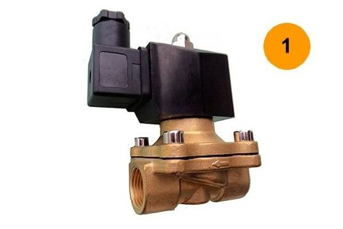 Válvula Solenoide 1 Polegada Na 80°c 2/2 Água/óleo/ar - 220v