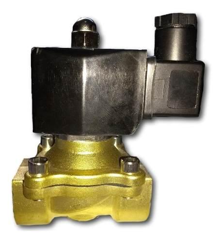 Válvula Solenóide 3/4 Bsp Nf80°c 2/2 Vias Água/óleo/ar 24vcc