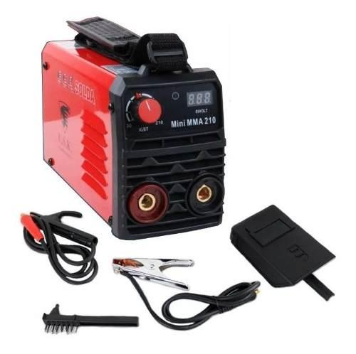 Máquina De Solda Inversora Digital Mini Mma 210 Bivolt Usk