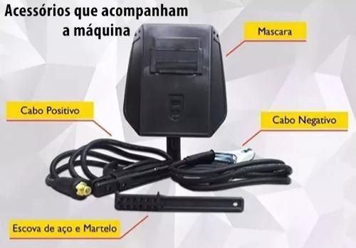Maquina Inversora De Solda Ak 130 Mini E Mascara Automatica
