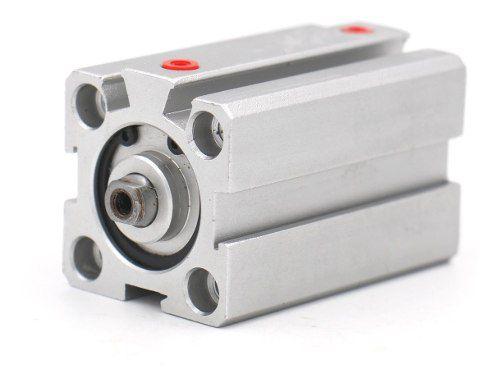 Cilindro Pneumático Compacto Dupla Ação Sda 32 X 15 Mm De Curso Haste Rosca Femea