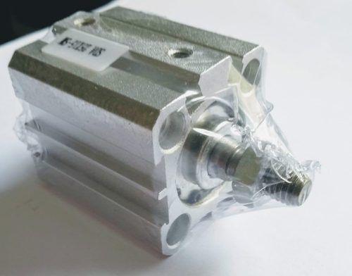 Cilindro Pneumático Compacto Dupla Ação Sda 32 X 20 Mm De Curso Haste Rosca Macho