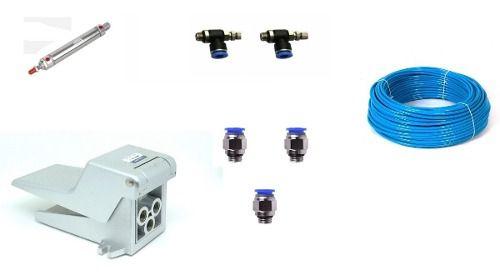 Cilindro Pneumático 25 X 150+válvula Pedal+conexões+tubo Pu