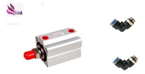 Cilindro Compacto Sda 20 X 10 Mm Haste Macho C/conexões L