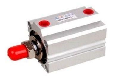 Cilindro Pistão Pneumático Compacto Sda 32x20mm Rosca Macho