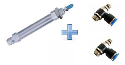Cilindro Pneumático Mini Iso 25 X 50 C/2 Regulador 1/8 X 6