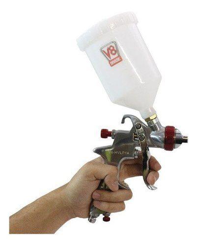 Pistola Ppk4 V8 0.8 125 Ml E Pistola V8 Hvlp14 1.4 600 Ml