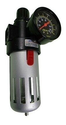 Filtro Ar Regulador De Pressão 1/2 Com Manômetro 0 Á 10 Bar