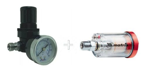 Regulador De Pressão Com Manômetro E Mini Filtro De Ar