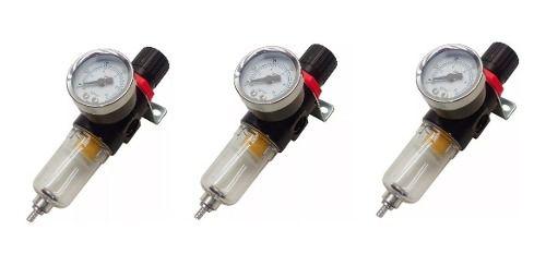 03 Filtro De Ar Para compressor com regulador de pressão 1/4 Pintura