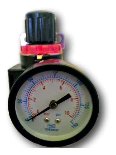 Regulador Pressão 1/2 Ar Compressor Pneumática C/manômetro