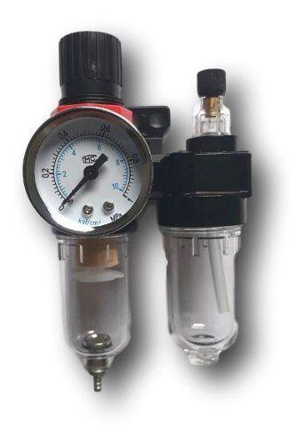 Filtro De Ar Para Compressor Com Regulador Lubrificador 1/4