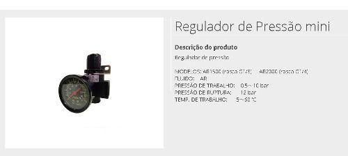 Regulador De Pressão 1/4 - Ar 2000