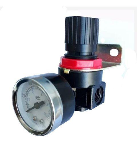Regulador De Pressão De Ar Para Compressor Com Manômetro 1/4