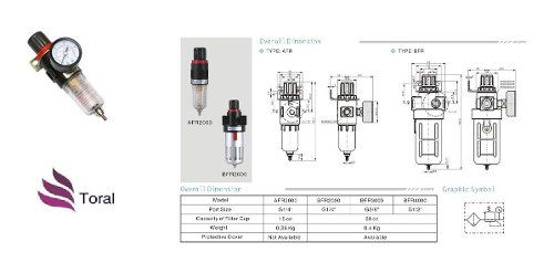 Filtro Regulador De Pressão Pneumático Para Compressor 1/4