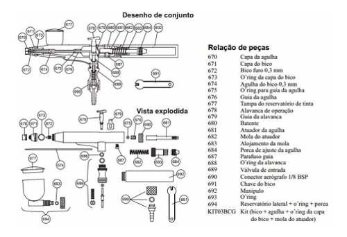 Kit Com 03 Bicos E 03 Agulhas - 0.3 Steula