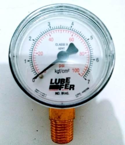 Manômetro Vertical Ar Comprimido 0 Á 7kgf 100 Psi 1/4 Ø 50mm