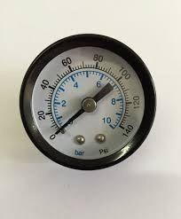 Manômetro Horizontal Rosca 1/8 Escala 0 A 10 Bar 150 Psi