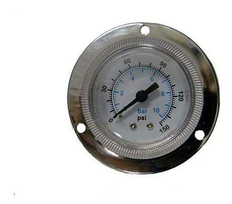 Manômetro Para Painel Rosca 1/4 Escala 0 Á 10 Bar 150 Psi