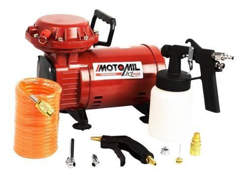 Compressor Ar Direto Motomil Jetmais Bivolt Com Pistola