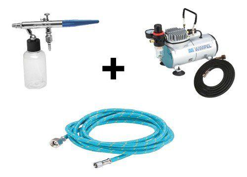 Kit Aerografia Compressor Comp1 Wimpel+mangueira 3 Mt + Bc65