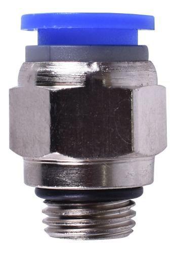 Kit Com 100 Conexões Pneumáticas Engate Rápido 3/8 Bsp X 8mm