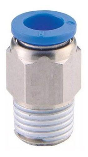 t Com 100 Conexões Pneumáticas Engate Rápido 3/8 Bsp X 8mm