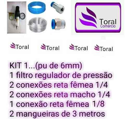 Kit Toral Comércio Nº 01 Conexões Pneumáticas Aerografia