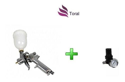 Pistola Arcom H-2000a 1.0 Hvlp E Regulador De Pressão