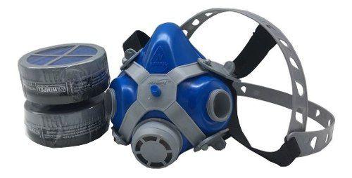 Máscara Respirador Facial Pintura Wimpel Com Filtro Duplo