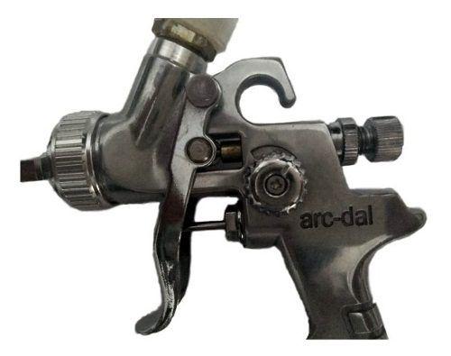 Pistola De Pintura Retoque Gravidade Arcdal Hvlp 1.0 125 Ml