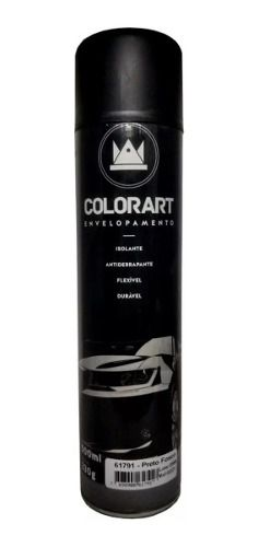 Tinta Spray Colorart Envelopamento Preto Fosco Automotivo