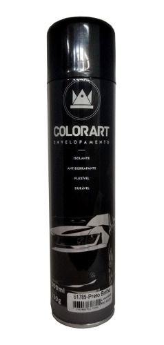 Tinta Spray Envelopamento Liquido Preto Brilhante Colorart