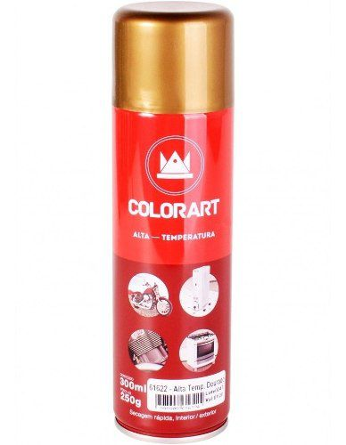 Tinta Spray Alta Temperatura Dourado 600ºc Colorart 300 Ml