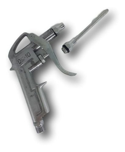Pistola De Ar Para Limpeza Rosca 1/4 Com 2 Bicos De Ar