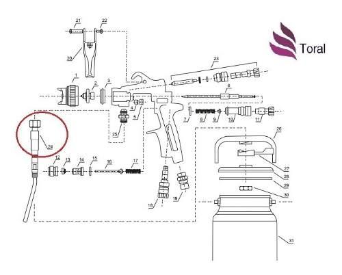 Peça Nº 24 Pescador De Tinta Pistola De Pintura Wimpel Mp781