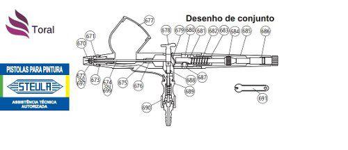 Alavanca De Operação - Peça Cód 678 Aerógrafo Steula
