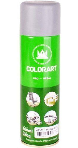 11 Primer Spray Tinta Uso Geral Fundo Cinza Colorart 300ml