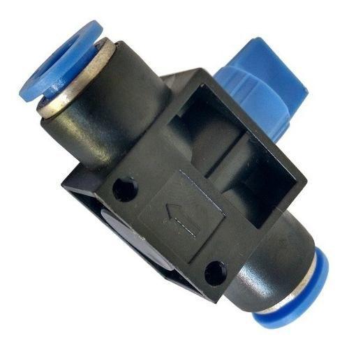 Válvula Pneumática De Bloqueio De Fluxo Tubo X Tubo Ø 4 Mm
