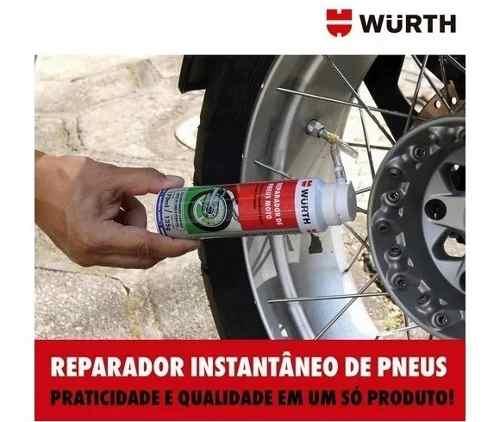 Reparador Instantâneo Inflador Pneus Furados Wurth Moto
