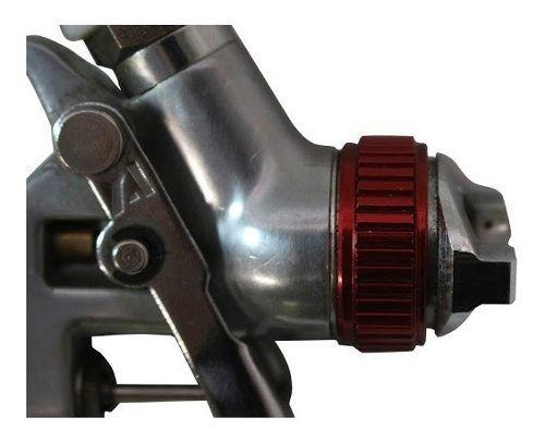 Pistola De Pintura Ppk4 V8 Brasil + Filtro De Ar 1/4 Afr2000