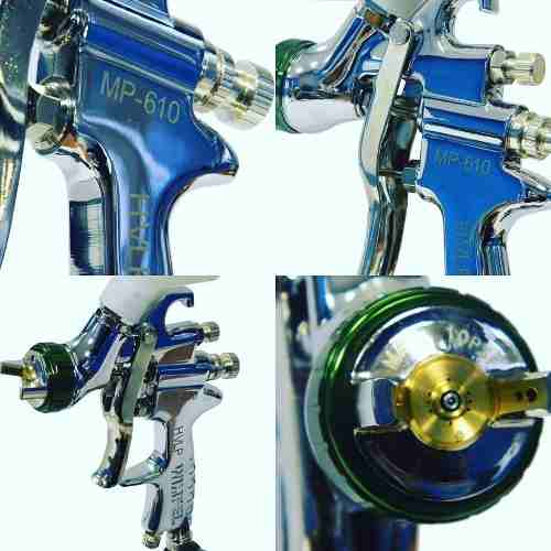 Pistola Alta Produção Hvlp Gravidade 1.3 Mp 610 Wimpel
